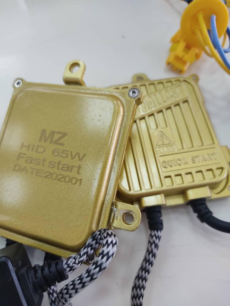 پکیج کامل کیت زنون بالاست 65w طلایی (ballast)